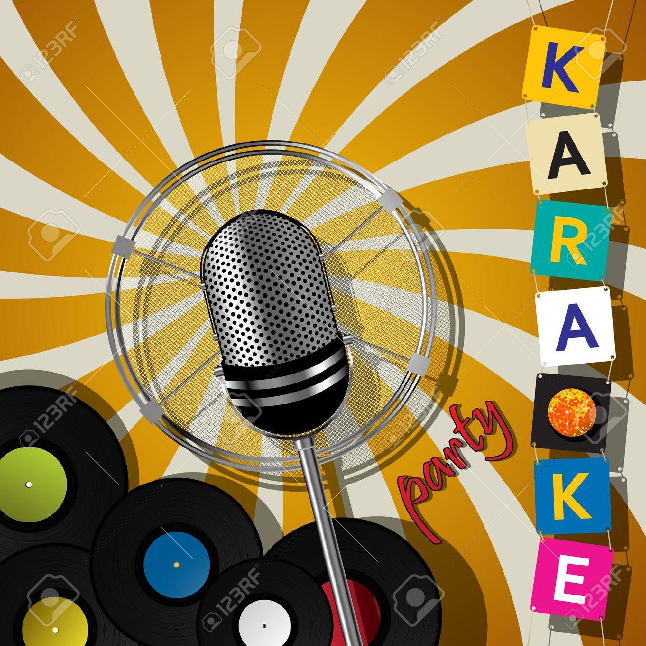 21446486-tessera-di-partito-con-il-microfono-per-gli-eventi-di-karaoke-archivio-fotografico
